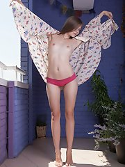 The real fun is when the world becomes naughty while watching this slim as well lovely teen naked on terrace.